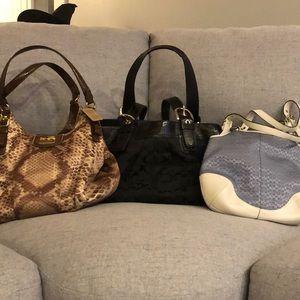 Bulk (3) coach bags for sale